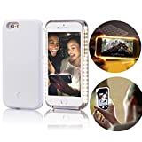iphone 5 5s Case,Vandot Premium LED Light Up Luminous Selfie Cell Phone Case Illuminated Dimmable Bright Bumper Case Anti-scratch Perfect Fit PC Hard Back Cover Skin For Apple iphone 5 5s SE -White