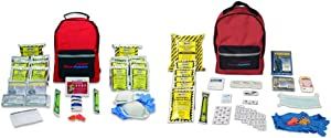Ready America 70280 Emergency Kit, 2-Person, 3-Day Backpack & 70180 Emergency Kit 1 Person Backpack