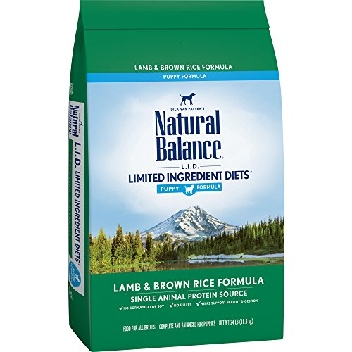 Natural Balance Puppy Formula L.I.D. Limited Ingredient Diets Dry Dog Food, Lamb & Brown Rice Formula, 24-Pound, Multicolor