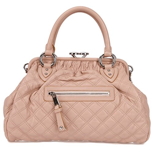 Jacobs Quilted Marc Satchel (Marc Jacobs Classic Quilted Stam Satchel Bag, Blush with Nickel)