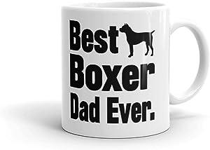 15 oz Best Boxer Dad Ever Dog Lover Gifts Pet Owner Rescue Gaurd Novelty Coffee Mug Tea Cup