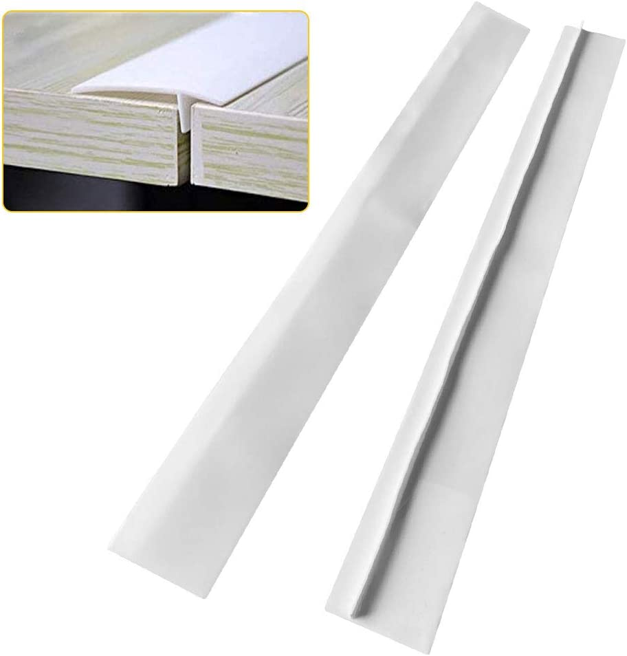 Kitchen Silicone Stove Counter Gap Cover, 21/25 inch Long & Extra Wide Stove Gap Filler Range Strips 2pcs,Between Oven and Countertop Dishwasher, Easy Clean Heat Resistant Gap Guards (25inch, White)