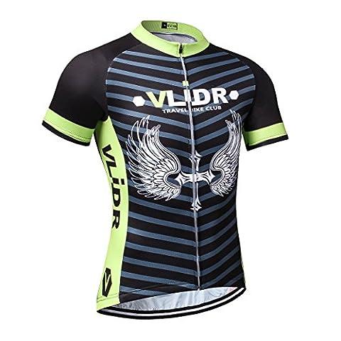 VLIDR Outdoor Sports Men's Short Sleeve Cycling Jersey Quick Dry Biking Bike Shirt Size L - Monster Racing Jersey