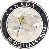 2014 Canada Elizabeth II DragonFly Green Darner $10 MS-63