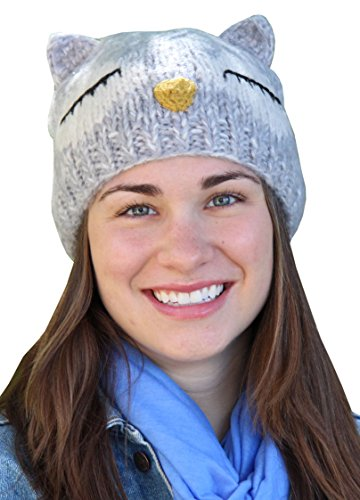 Comfy Critters Owl Knit Hat