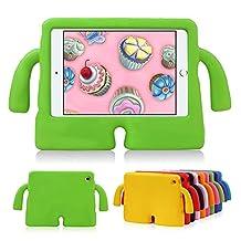 HCHA iPad Mini 4 3 2 1 Kids Case Kids Proof Shockproof Protective Cases Lightweight Durable EVA Foam Freestanding Case for iPad Mini 1/2/3/4 NOT for iPad 2/3/4 or iPad Air (Green)