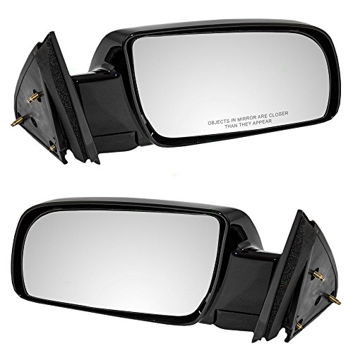 Pair Set Manual Side View Mirrors w/Metal Bases Replacement for Chevrolet GMC Pickup Truck Blazer Suburban Yukon Tahoe 15764759 15764760 AutoAndArt
