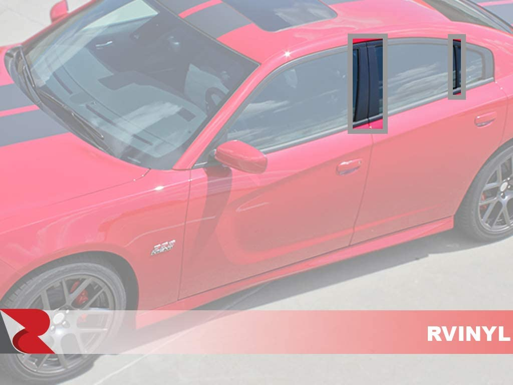 Camouflage Red Rtrim Pillar Post Decal Trim for Dodge Charger 2011-2018