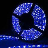 12V高輝度LEDテープライト SMD 2835 3528 5M 300連 強力粘着両面テープ 正面発光防水仕様IP65 切断可能 (ブルー)