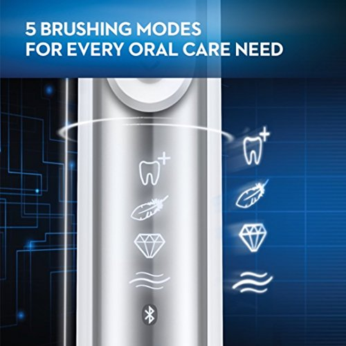 Oral-B Pro 7500 SmartSeries Electric Rechargeable Toothbrush with 3 Replacement Brush heads, Bluetooth Technology and Travel Case, Powered by Braun by Oral B (Image #4)