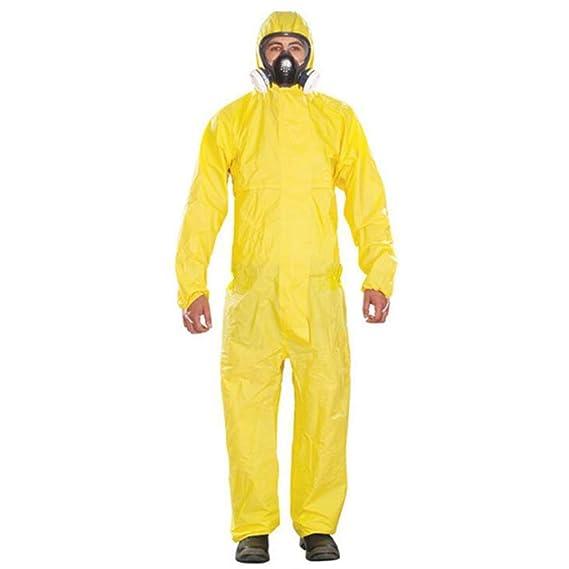 HZTWS Traje de protección química contra sobretodo, ropa de ...