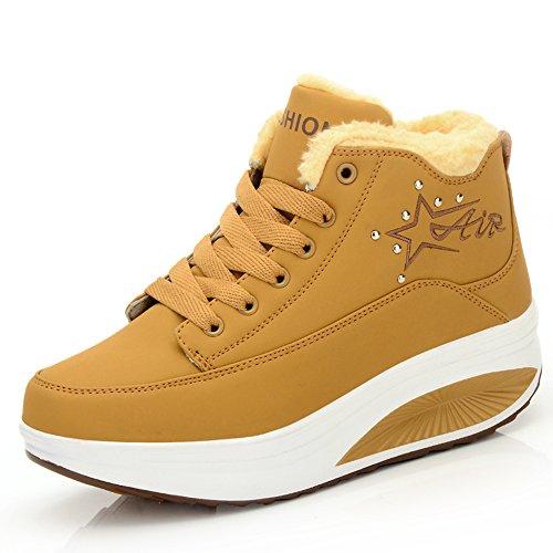 Gym Casual Running Anti Hiver chaud Chaussures Balançoire Peluche Sport de Eagsouni® choc Fitness Femme Baskets Compensées w0WvBffxn