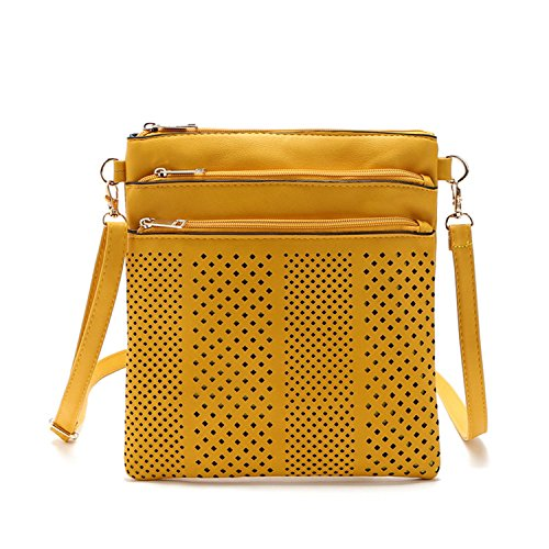 KDHJJOLY Practical 2016 New fashion shoulder bags handbags women famous brand designer messenger bag crossbody women clutch purse bolsas femininas Yellow Two Chic (Clearance Subwoofers)