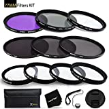 77mm Filters Set for 77mm Lenses and Cameras includes: 77mm Close-Up Macro Filters (+1 +2 +4 +10) + 77mm Filters Set (UV, FLD, CPL) + 77mm ND Filter Set (ND2 ND4 ND8) + 77mm Lens Cap + HeroFiber +MORE