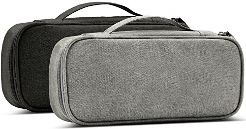 BAONA Carrying Bag for AC Adapter, Travel Organizer for Laptop Charger, Pouch Cover Case for Power Cord and Other Accessories -Black by baona (Image #6)