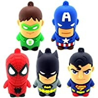 Sandios 5PCS/LOT Cartoon toy pen drive 8GB USB 2.0 Memory Stick Flash Drive USB