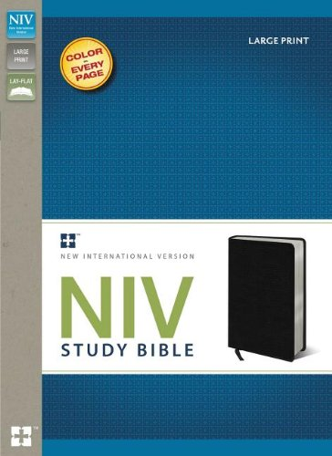 NIV-Study-Bible-Large-Print-Bonded-Leather-Black-Red-Letter-Edition