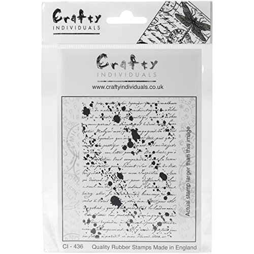 (Crafty Individuals Inky Script Background Unmounted Rubber Stamp, 4.75