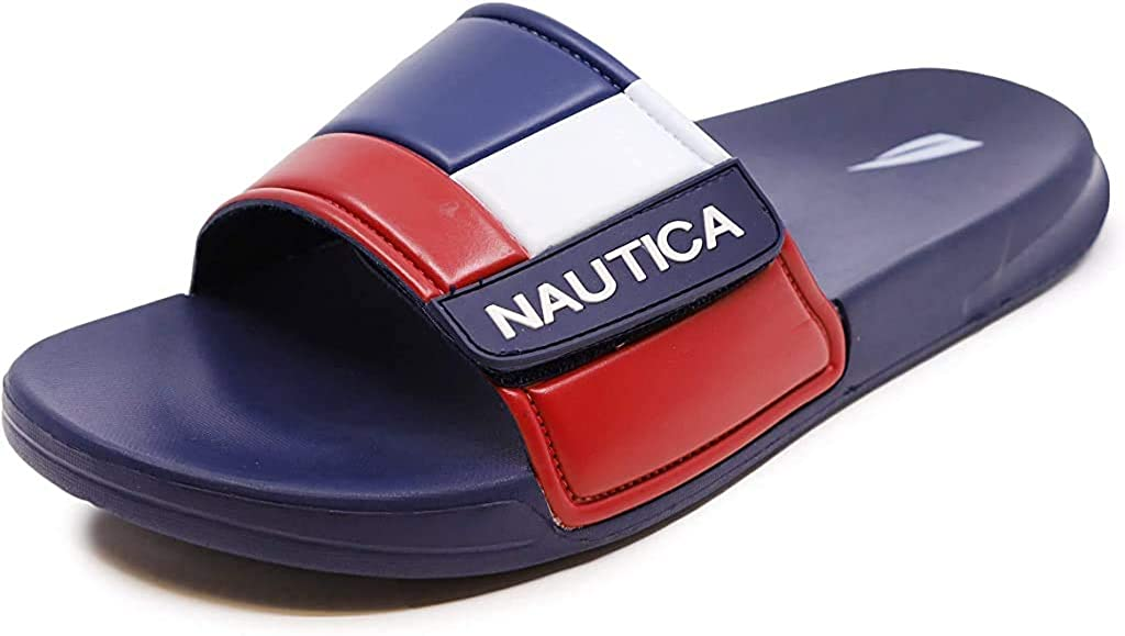 Nautica Mens Athletic Slide Adjustable Straps Comfort Sandal-Bower