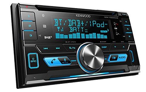 Kenwood DPX7000DAB Doppel-DIN-Receiver mit Apple iPod-Steuerung, Bluetooth-Freisprecheinrichtung und DAB+ Tuner schwarz