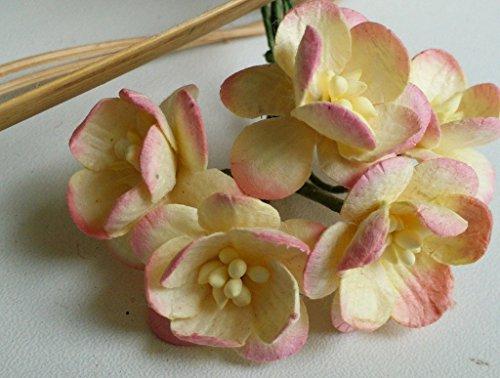 50 Pink Mulberry paper Cherry Blossom Flower Handmade Wedding 2.50 cm
