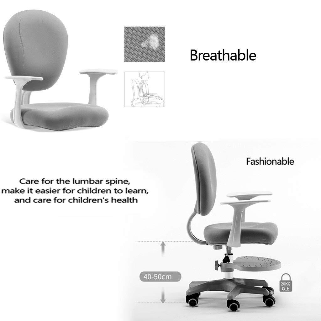 Barnlärande stol ryggstöd fashionabla barn sittande hållning korrigering stol student lärande skriva stol student hem skrivbord pall (färg: blå) BLÅ