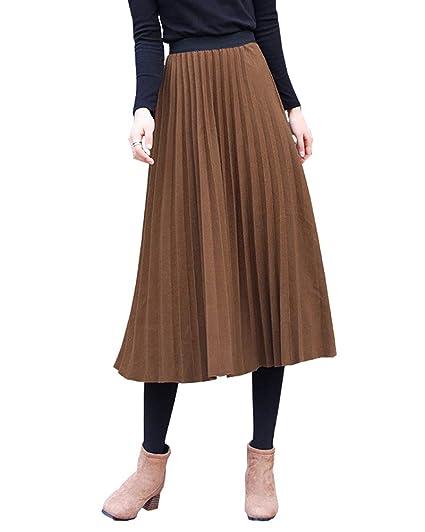 ShiFan Mujer Básica Irregular Elegante Cintura Elástica Pliegue De ...