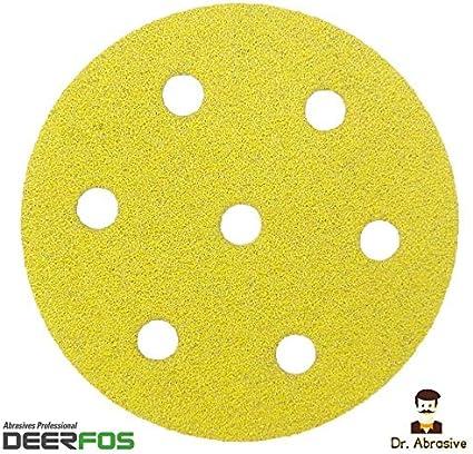 Deerfos Lot de 50 disques abrasifs 90 mm pour Festool Rotex RO 90 DX P150