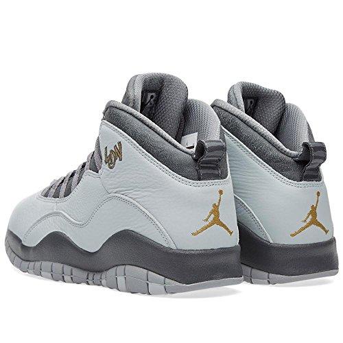 Jordan Nike Herren Air Retro 10 Basketballschuh Pr Pltnm, Mlllc Gld-drk Gry-cl