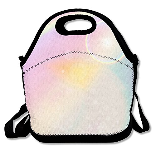 MAGGIE SALAS Rainbow Dreams Vacation Bag Lunch Bags Bags Travelling Bag Picnic Bag Storage Bag Backpack For Children Diagonal Bag Handbag (Quilling Quilt Blocks)