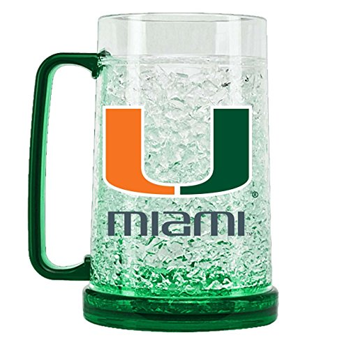 NCAA Miami Hurricanes 16oz Crystal Freezer Mug ()
