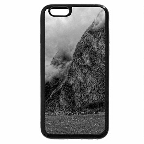 iPhone 6S Plus Case, iPhone 6 Plus Case (Black & White) - gorgeous clouds in the valley hdr