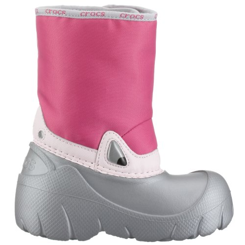 fuchsia Silver Doposci Velcro Crocs Scarpe Bambino Pwqff8X