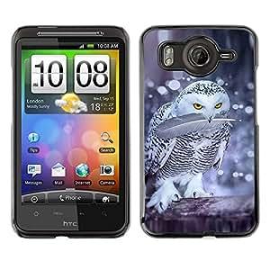 TopCaseStore / la caja del caucho duro de la cubierta de protección de la piel - Birds Nature Winter Funny Snow - HTC G10