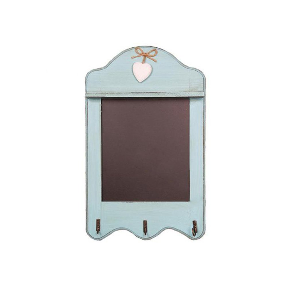 Lavagna da cucina in stile shabby chic, adatta come decorazione per la casa Duck Egg Blue Scalloped with 3 Hooks Sass & Belle