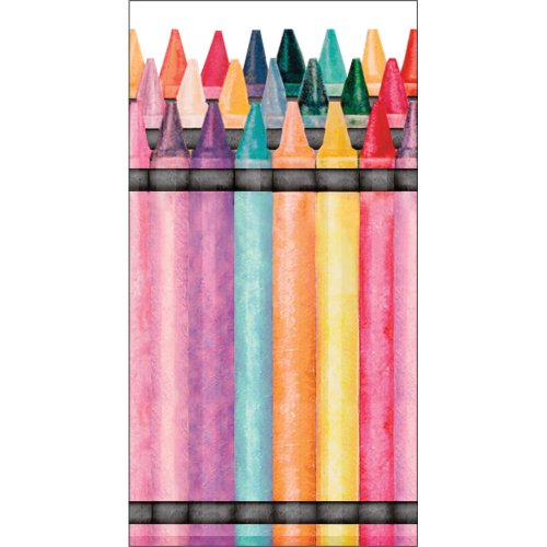 Creative Converting Swankies Crayons Fashion Decorative Pocket Tissue Package for Parties