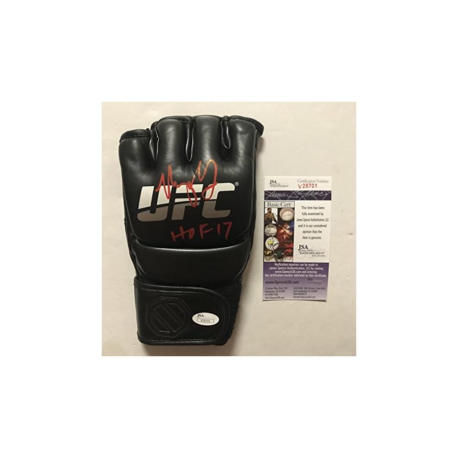"Autographed/Signed Urijah Faber HOF 17"" Black UFC MMA Glove Ultimate Fighting JSA COA"