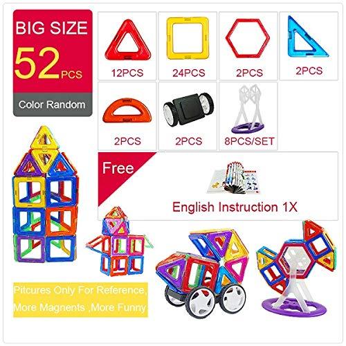 PPH3 Shine Magnetic Designer Construction & Building Toys 44-157PCS Big Size Magnetic Blocks DIY Magnets Building Blocks Toys Gifts (126Pcs) by PPH3 Shine (Image #2)