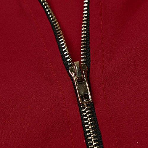 Blouses Mousseline Top Tunique Rouge QinMM Occasionnels Blouse Shirt Zipp 4 Mode T Col Hauts 3 Lache Manches V Chemisier Femme qBx7P0EB