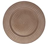 AK-Trading - Set of 12, Premium Finest Quality Party Plate Chargers, 13-Inch Round,Copper Hammered Design
