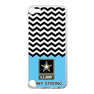 Canting_Good US Army Chevron Custom Case Shell Cover for IPod Touch 5 TPU (Laser Technology)