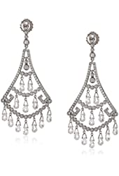 "CZ by Kenneth Jay Lane ""Special Occasion"" Multi-Cubic Zirconia Drop Earrings, 16 CTTW"
