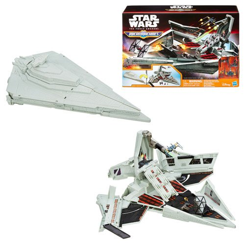 Star Wars Episode VII Micro Machines First Order Star Destroyer Playset, Playset, 2 Figures, 2 Vehicles And Instructions and Bonus: 4 Figures And 8 Vehicles