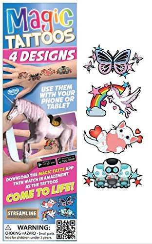 Streamline Magic Tattoos- Come to Life! (4 Designs per package) (Butterfly (MTT501))