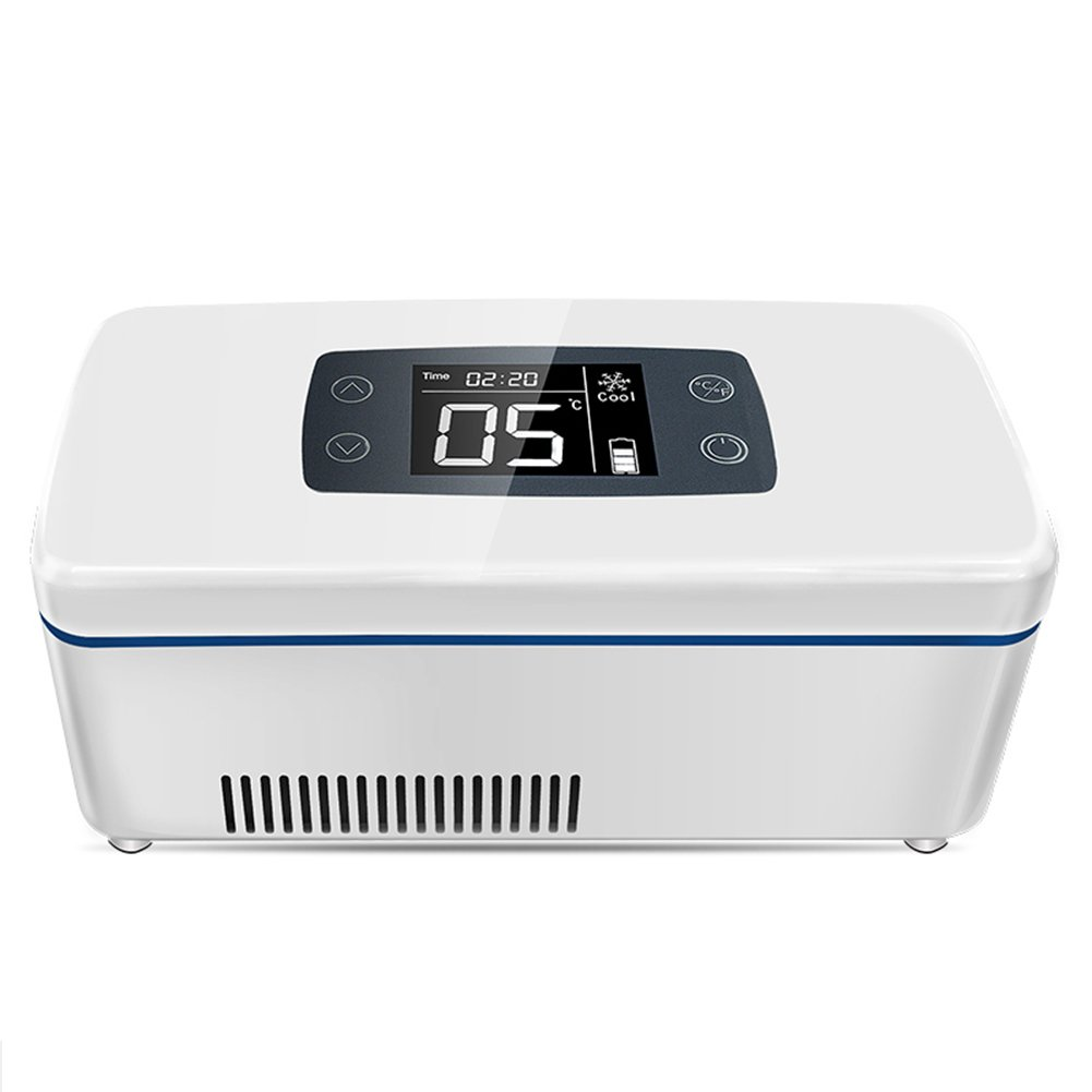 LIQICAI Portable Insulin Mini Kühlschrank Intelligente elektrische Kühlbox 12V DC (Auto)/230V AC (Zuhause)