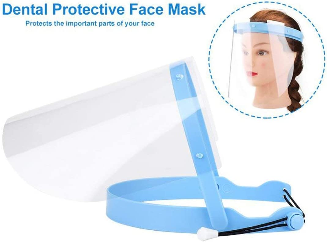 10x Dental Face Shield Plus Detachable Visors Protective Plastic Films Masks   X