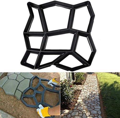 Dbtxwd Walk Maker DIY Moldes de Piedra Camino Pavimentación Pavimento Moldes de hormigón Stepping Piedra Pavimentadora Césped Patio Patio Jardín Pasarela: Amazon.es: Hogar