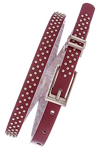 Belle Donne Women Dress Belts Polka Dots Fashion Belts Many Styles Colors - Red