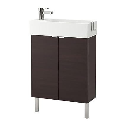 online store 55fde 2c161 Amazon.com: IKEA Lillangen Sink Cabinet With 2 Doors Black ...