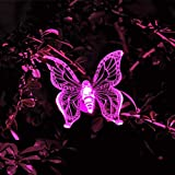 YRD TECH Solar Butterfly Light-Color-Changing LED Garden Solar Light Outdoor Waterproof Dragonfly/Butterfly/Bird LED Garden Decoration Path Lawn Lamp (A)